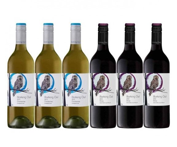 Barking Owl Red and White Mixed - 6 Bottles