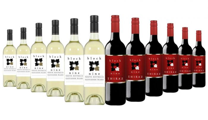 Block Nine Red and White Mixed - 12 Bottles