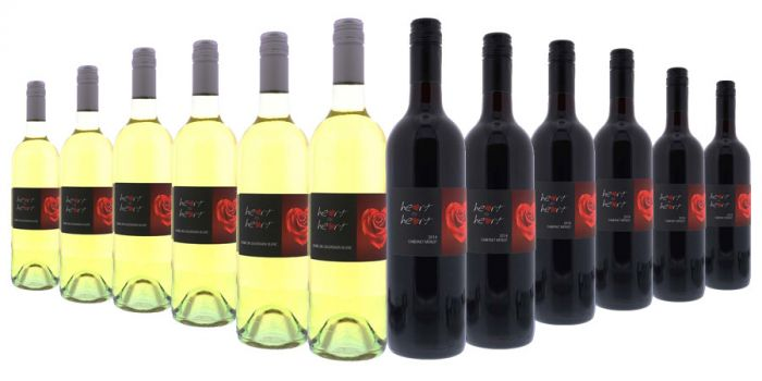 Heart To Heart Red and White Mixed - 12 Bottles