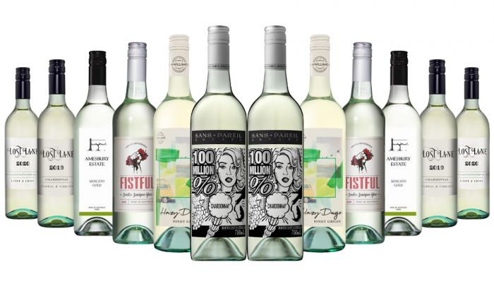 Great Value White Mixed - 12 Bottles