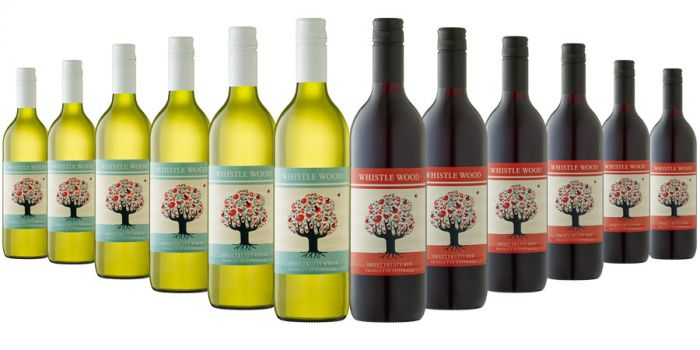 Whistle Wood Red and White Mixed - 12 Bottles